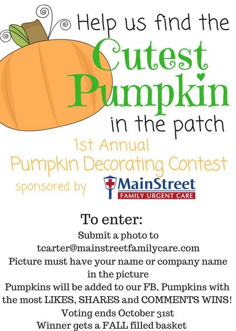 1st Annual Pumpkin Decorating Contest